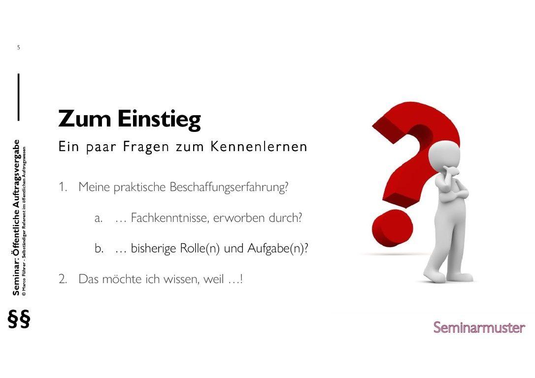 Seminarmuster - Öffentliches Auftragswesen: Vergaberecht und Beschaffungsmanagement - Folie 05