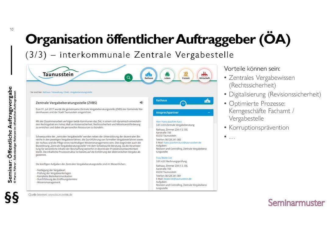 Seminarmuster - Öffentliches Auftragswesen: Vergaberecht und Beschaffungsmanagement - Folie 10