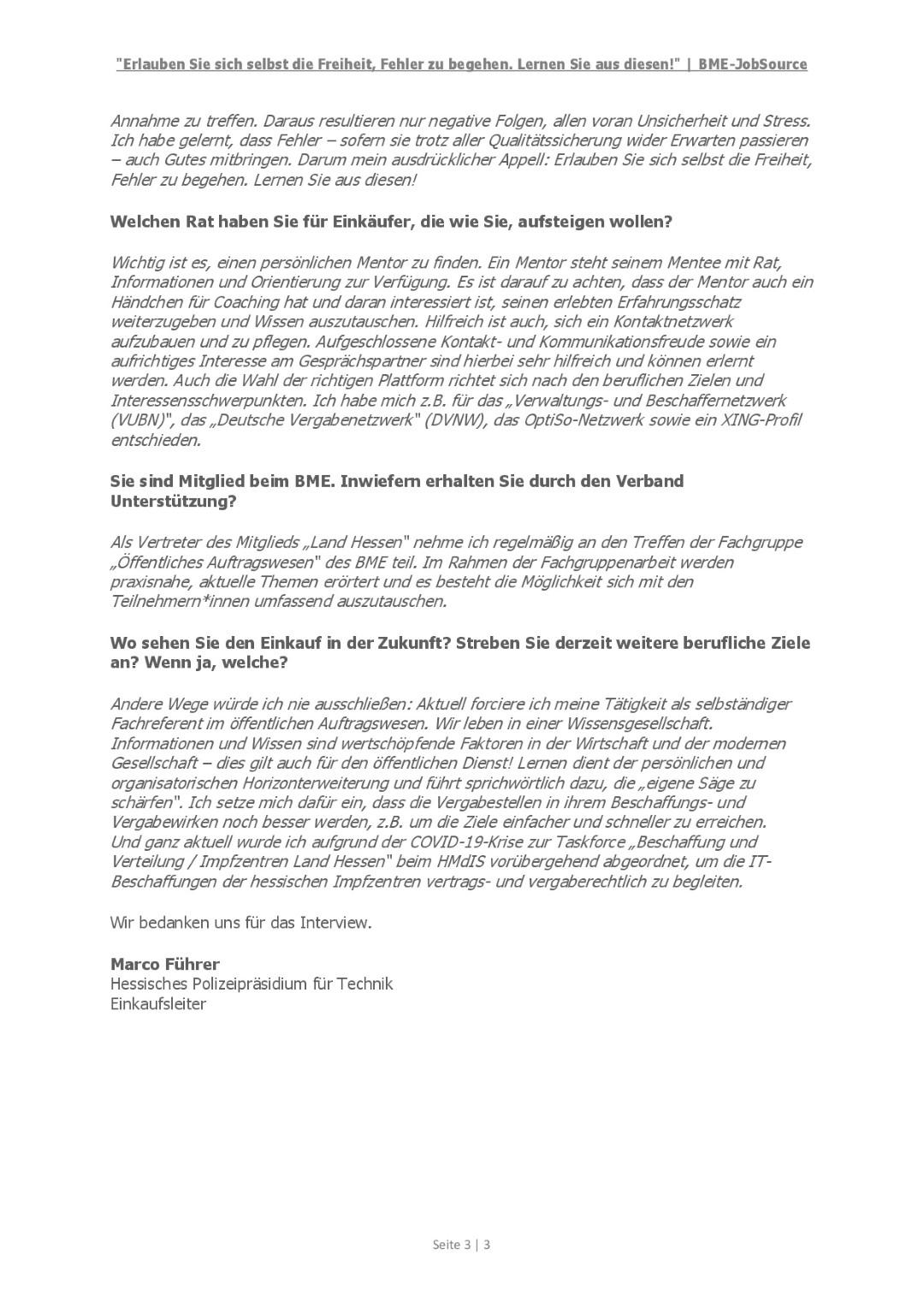 BME-JobSource - Interview Marco Führer, HPT - Seite 3